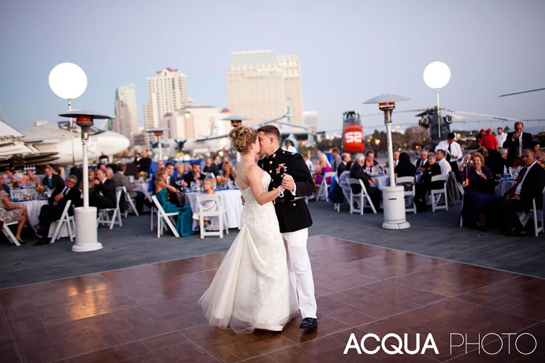 San Diego Wedding DJ - Becks Entertainment USS Midway wedding Becks Entertainment